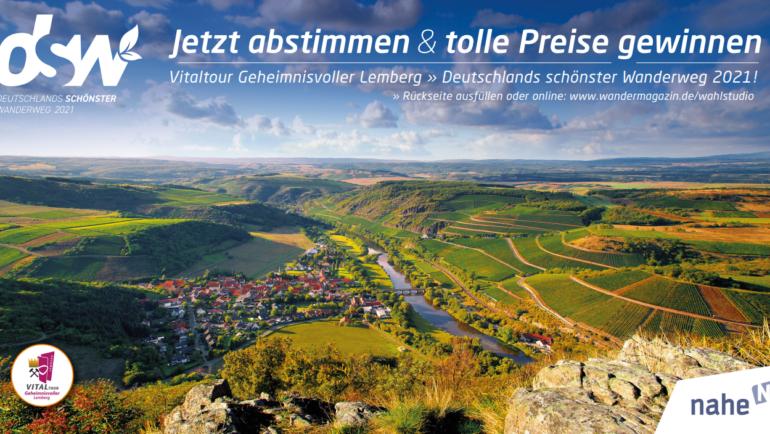 Deutschlands schönster Wanderweg 2021 – Das Wahlstudio ist eröffnet!